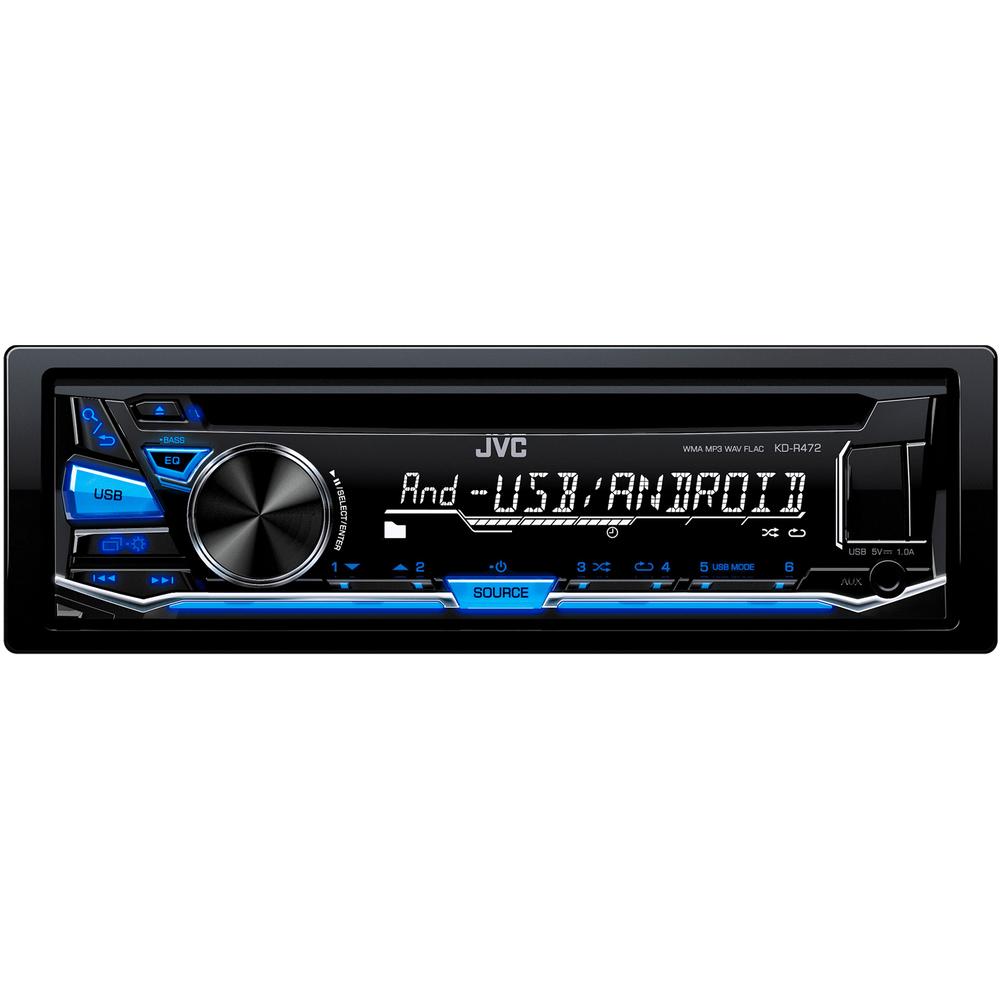 JVC autorádio s CD/MP3/USB/AUX/modře podsvícená tlačítka/odním.panel