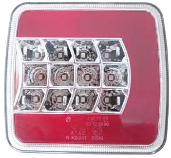 Sdružená lampa zadní LED 12V levá, ECE