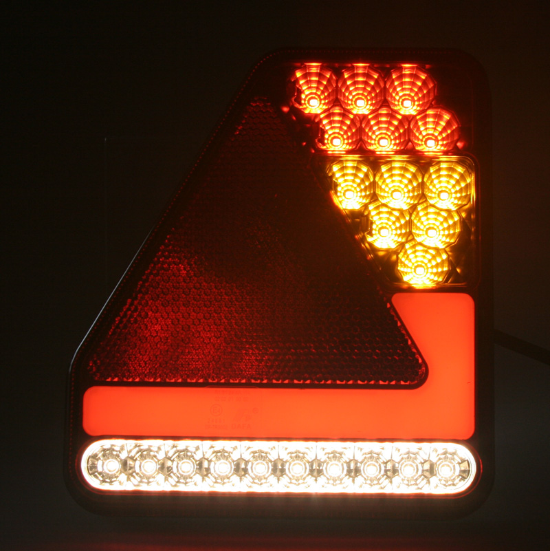 Sdružená lampa zadní LED 12-24V, ECE, pravá