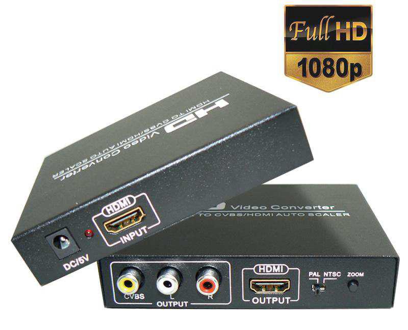 Univerzální převodník videosignálu z HDMI do CVBS a HDMI