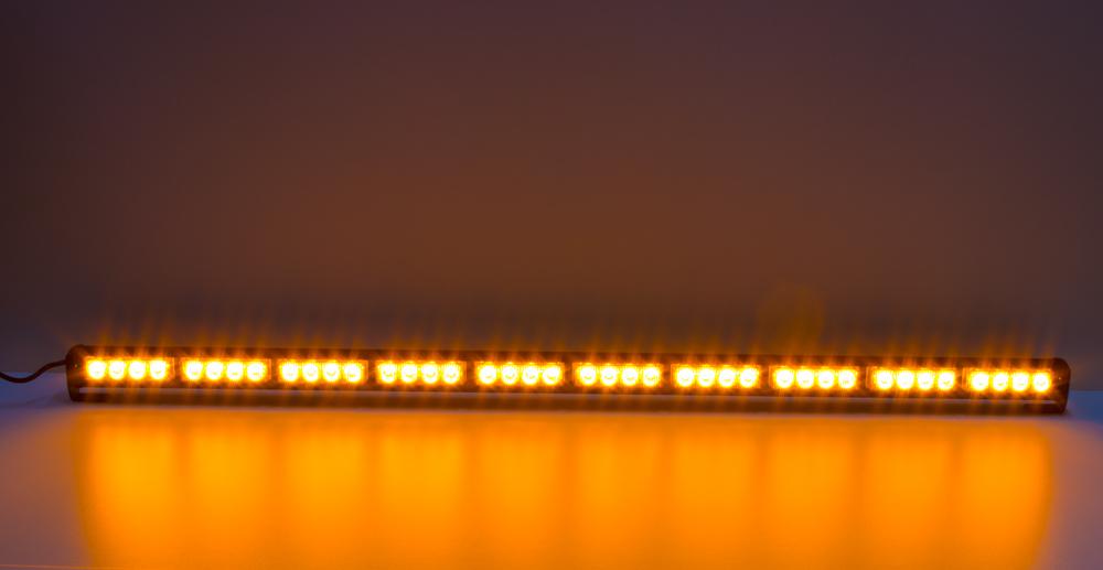 LED světelná alej, 40x LED 3W, oranžová 1210mm, ECE R65