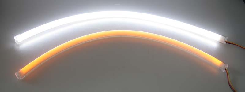 LED pásek s 342LED/335SMD bílo/oranžový 12V, 45cm