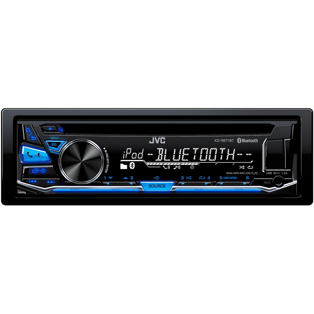 JVC autorádio s CD/MP3/USB/AUX/Bluetooth připojení/modré podsvícení