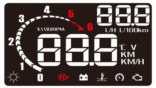 """x HUD projekční displej 2,5"""", OBDII"""