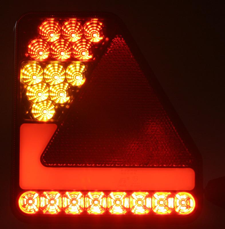 Sdružená lampa zadní LED 12-24V, ECE, levá