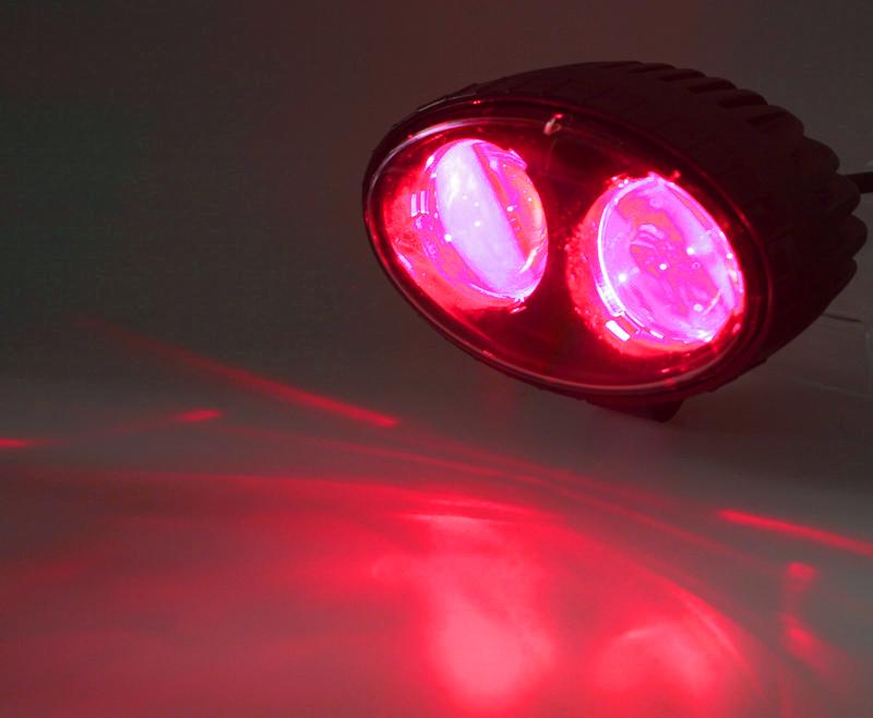 PROFI LED výstražné bodové světlo 10-48V 2x4W červené 143x122mm, R10