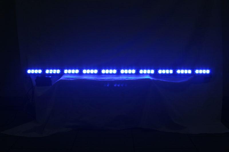 LED alej voděodolná (IP66) 12-24V, 40x LED 1W, modrá 1200mm