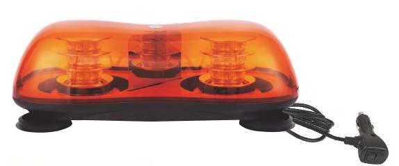 LED rampa oranžová, 36LEDx3W, magnet, 12-24V, 419mm, ECE R65/R10