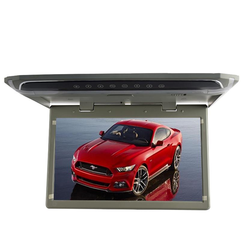 """Stropní LCD monitor 12,1"""" šedý s HDMI/microSD/IR/FM, ultra tenký"""
