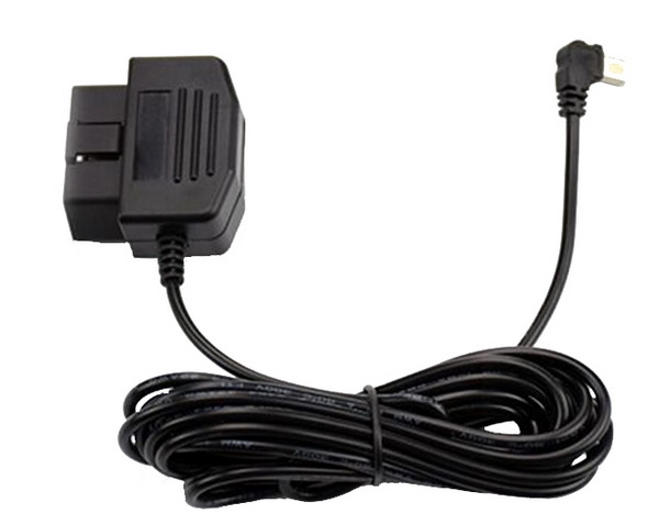 Kabeláž pro napájení DVR kamery z OBD konektoru na microUSB
