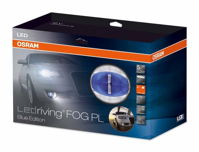x OSRAM LED mlhová světla/denní svícení, kulatá světla 90mm, ECE
