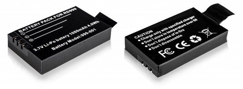 Náhradní baterie do sportovní kamery dvrs01/RD990