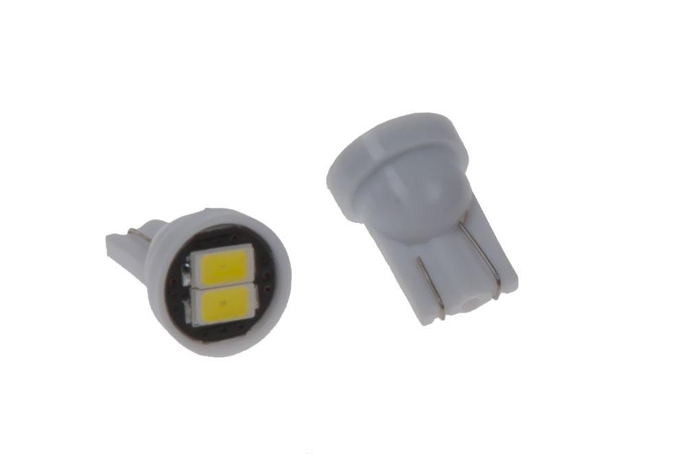 LED T10 bílá, 12V, 2LED/5630SMD