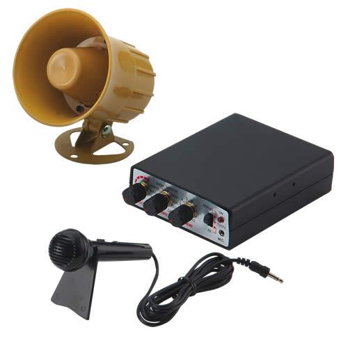 Hobby zvukový systém 15W (35 variant zvuků zvířat a sirén + mikrofon)