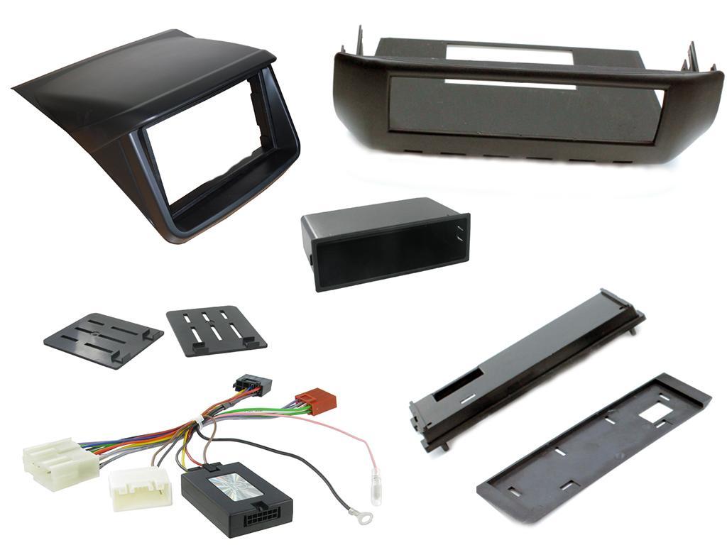 2DIN/1DIN redukce pro MITSUBISHI L200 2012- plast+ovládání