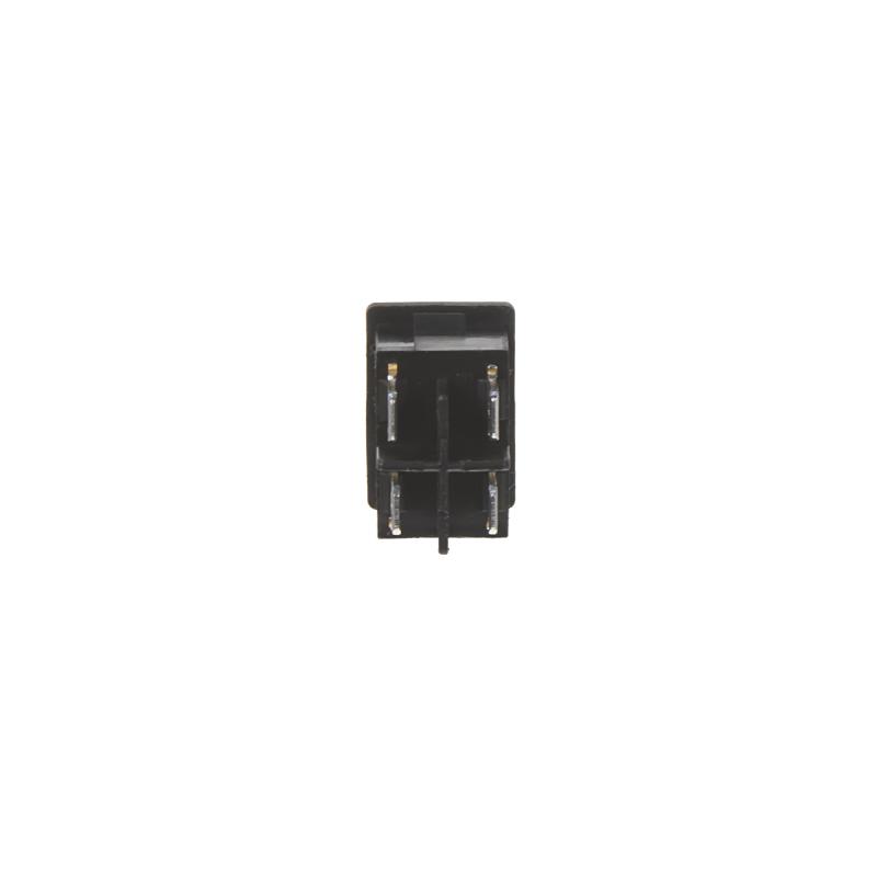 Přepínač kolébkový hranatý 6A, černé tlačítko