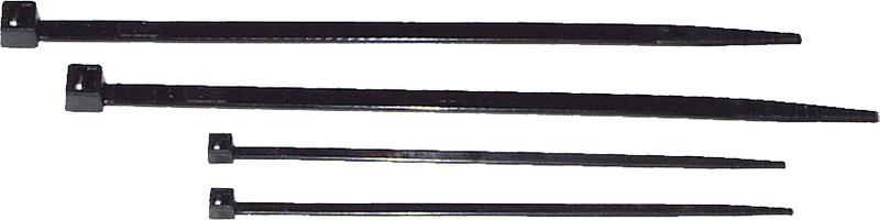 Vázací pásek černý 3,6 x 140 mm, 100 ks