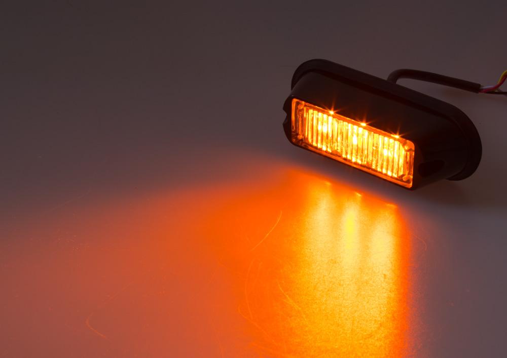 PREDATOR 3x1W LED, 12-24V, oranžový, ECE R10 R65