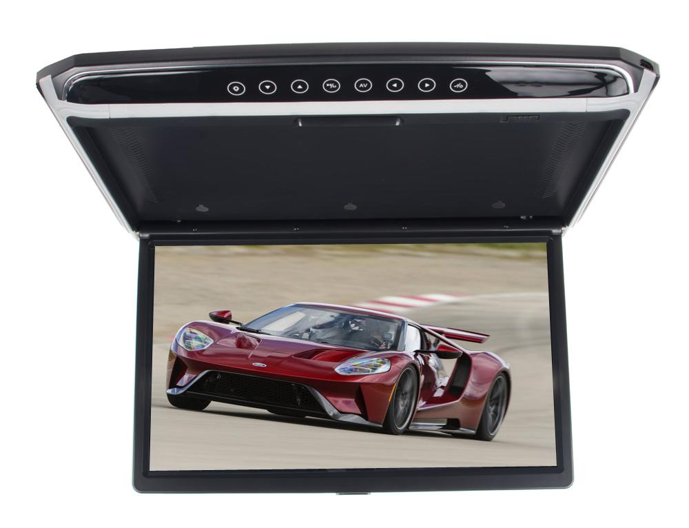 """Stropní LCD monitor 17,3"""" USB/SD/HDMI/IR/FM, černý neotočný"""
