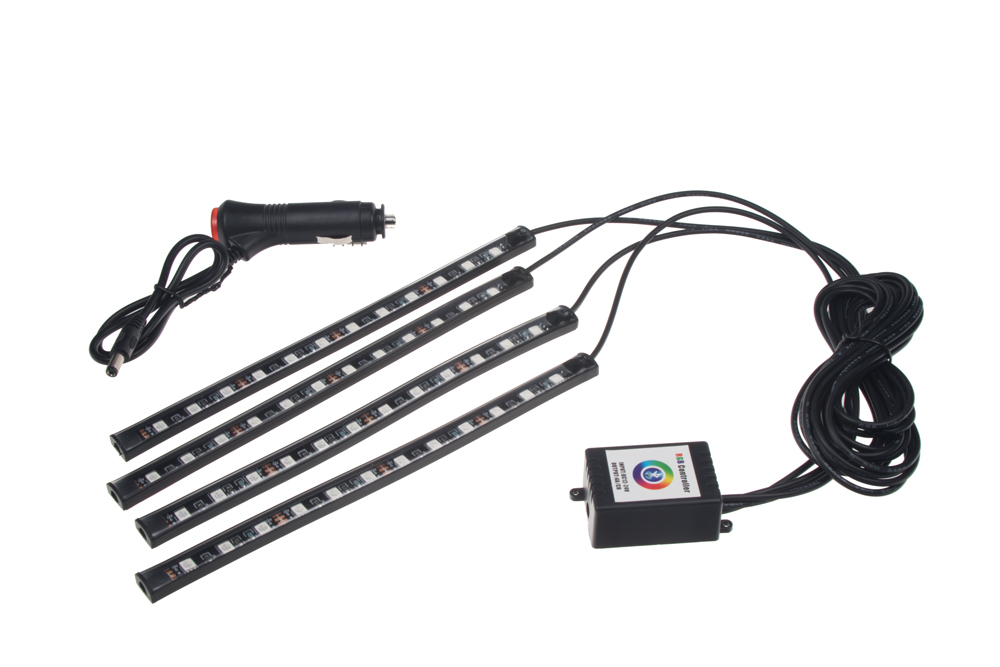 LED podsvětlení vnitřní/vnější RGB 12V, bluetooth, 4 pásky