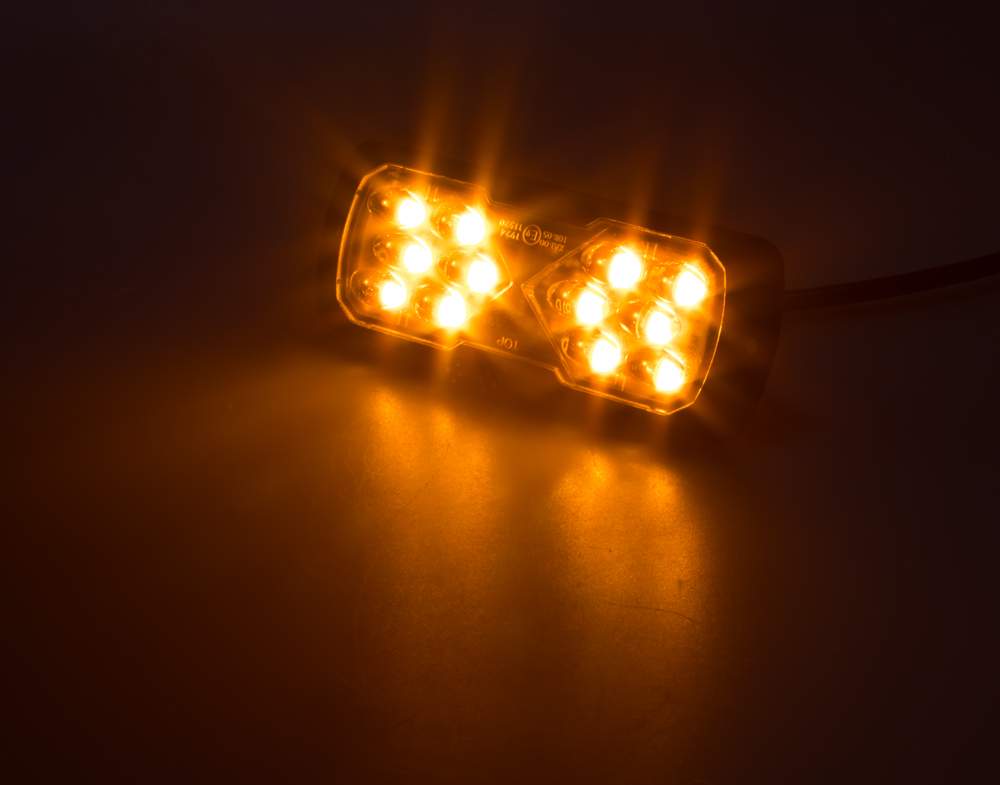 PROFI LED výstražné světlo 12-24V 11,5W oranžový ECE R65 114x44mm