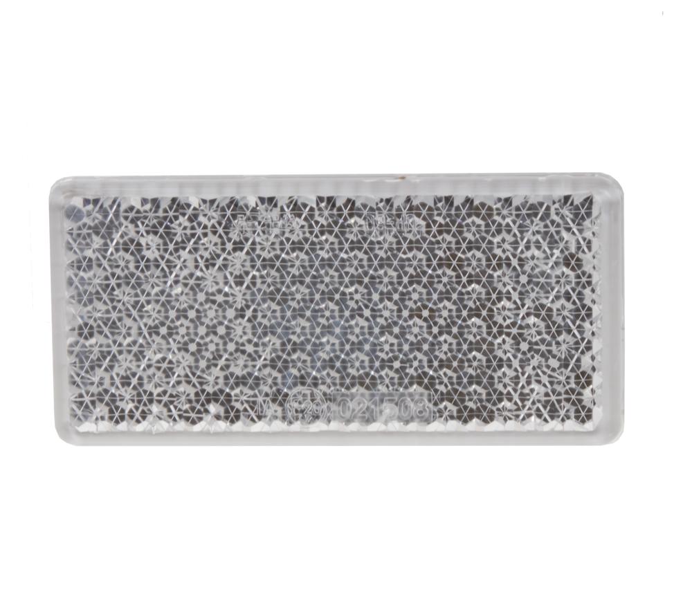 Přední (bílý) odrazový element - obdélník 95 x 45mm nalepovací