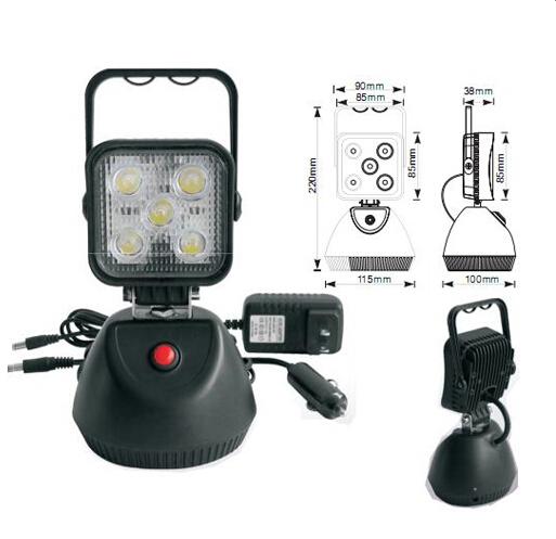 AKU LED světlo s magnetem, 5x3W, 220x115mm