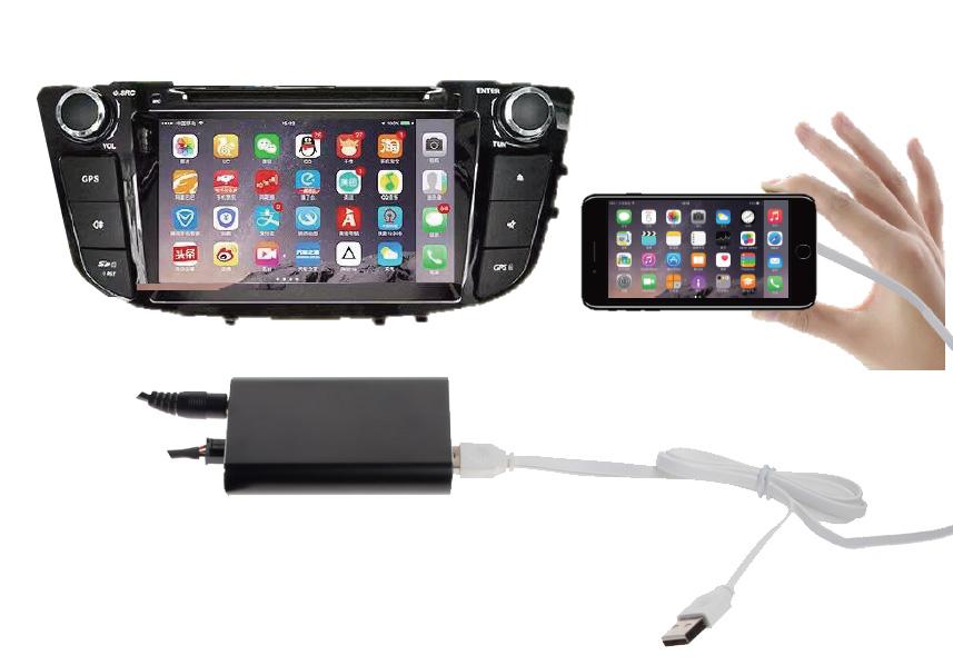 USB zrcadlové zobrazení telefonu v navigaci
