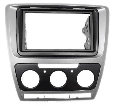 2DIN redukce pro Škoda Octavia 2009-2013 manual Clima šedý