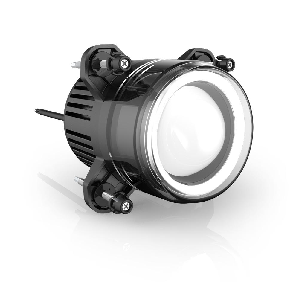 LED potkávací světla/denní svícení/poziční světla, kulatá světla 93,5 mm, ECE