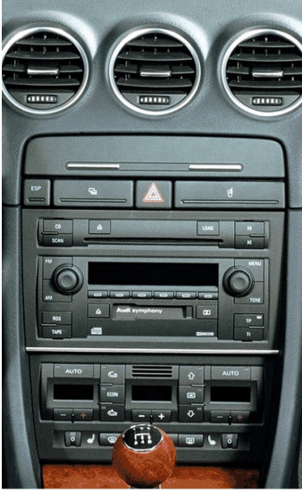 ISO redukce pro Audi A4 2001-2009, DOUBLE DIN, Seat Exeo