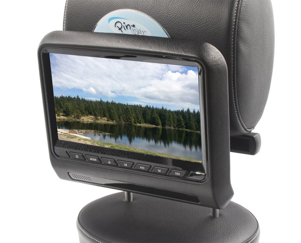 """DVD/SD/USB/HDMI monitor 9"""" s držákem na opěrku černý"""