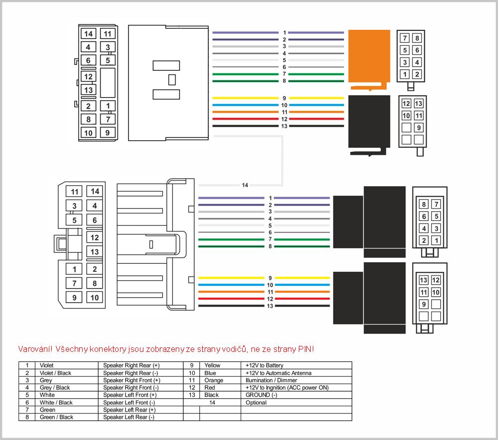 Kabeláž pro HF PARROT/OEM Subaru