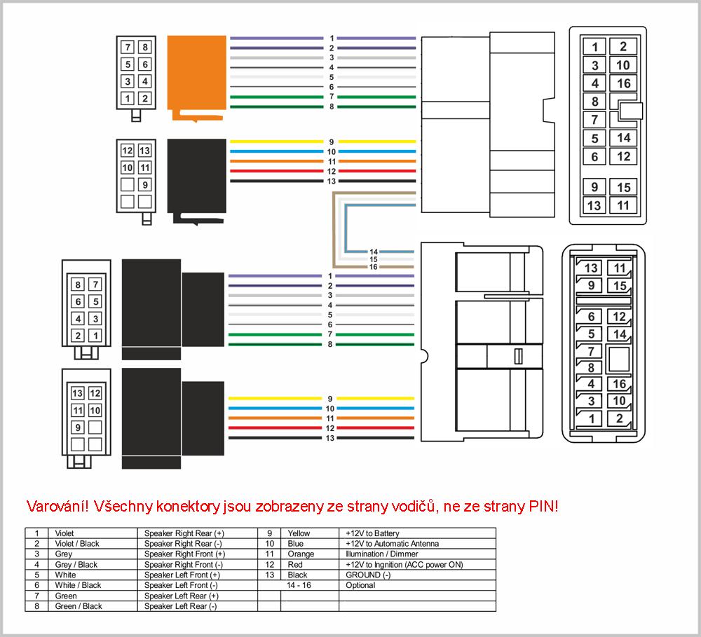 Kabeláž pro HF PARROT/OEM NISSAN od r. 2000