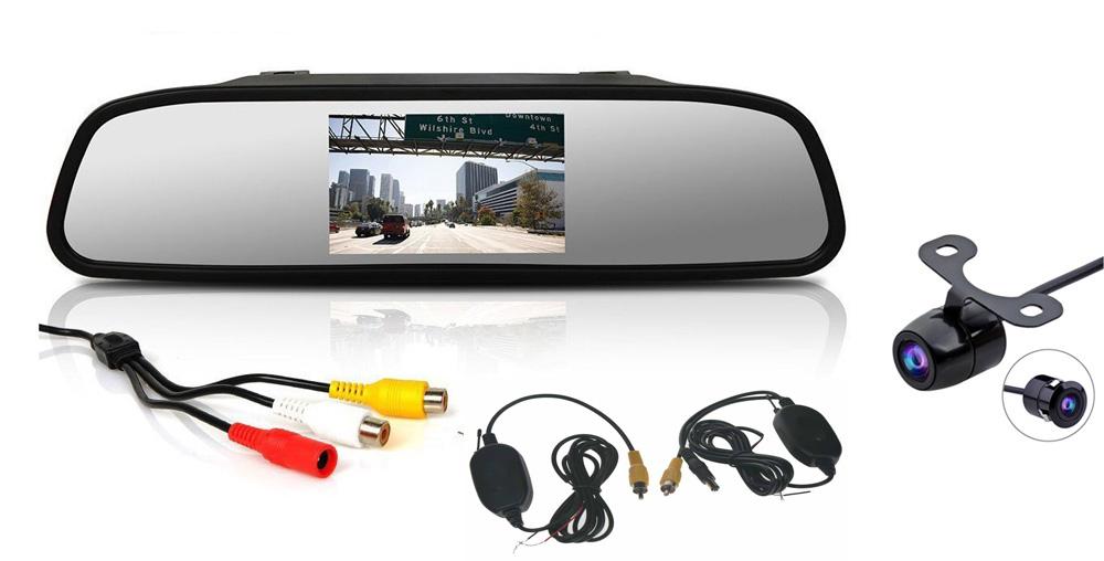 """Bezdrátová parkovací kamera s LCD 4,3"""" monitorem na zrcátko"""