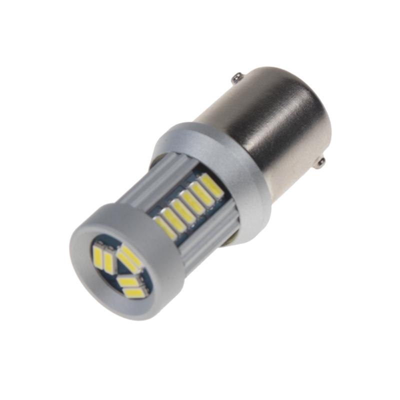 LED BA15s bílá, 12-24V, 30LED/4014SMD
