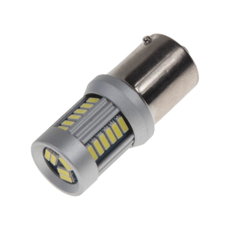 LED BAU15s bílá, 12-24V, 30LED/4014SMD
