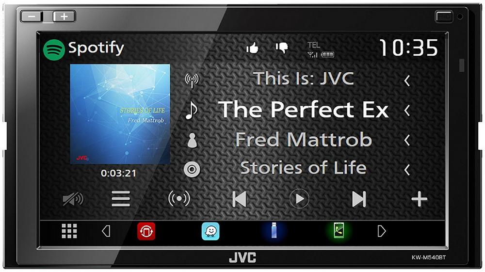 "JVC 2DIN autorádio/6,8"" displej/USB/AUX/Bluetooth"