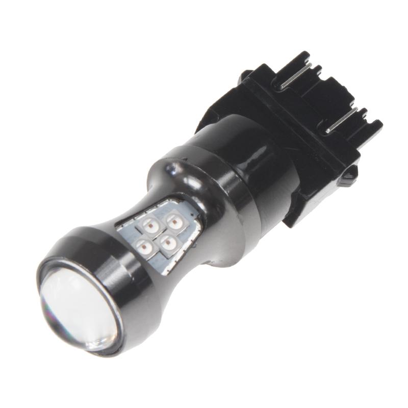 LED T20 (3157) červená, 12-24V, 16LED/3030SMD