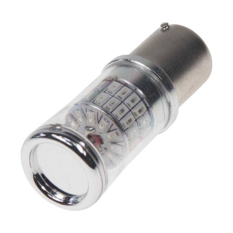 TURBO LED 12-24V s paticí BA15S, 48W červená
