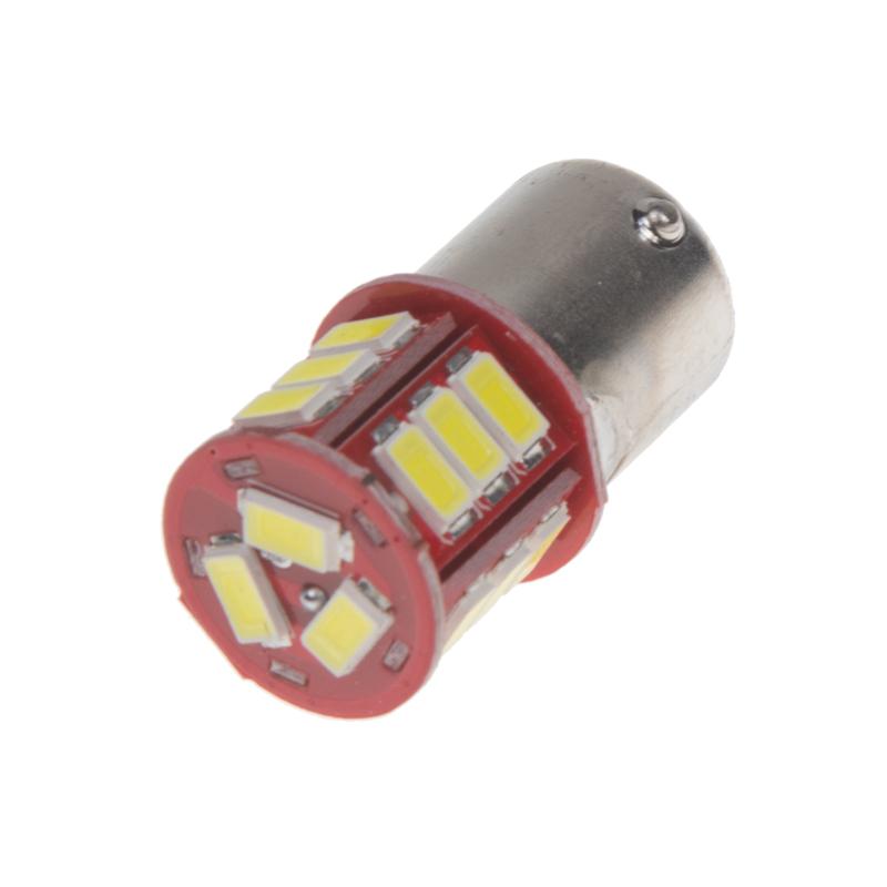 LED BA15s bílá, 12 V, 18LED/5730SMD