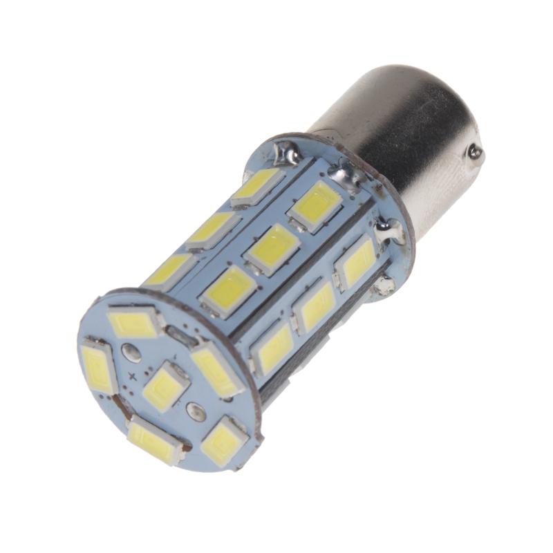 LED BA15s bílá, 12V, 27LED/3SMD