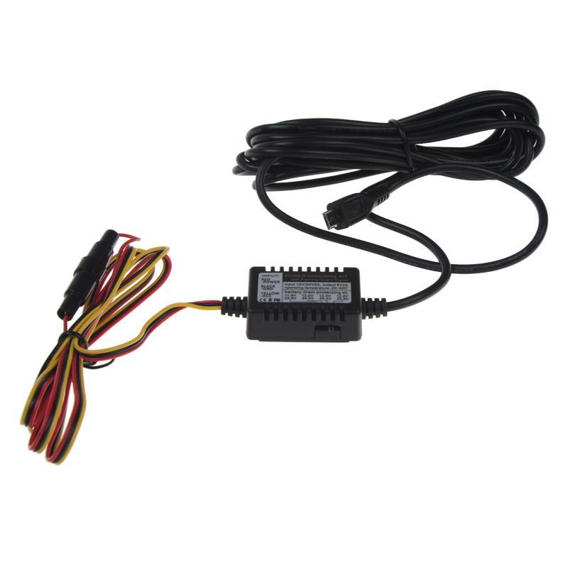 Kabeláž pro pevnou montáž DVRB s microUSB - dvr25, dvrb24s a dvrb27wifi