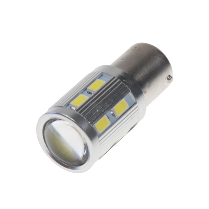 LED BA15s bílá, 12-24V, 16LED/5730SMD