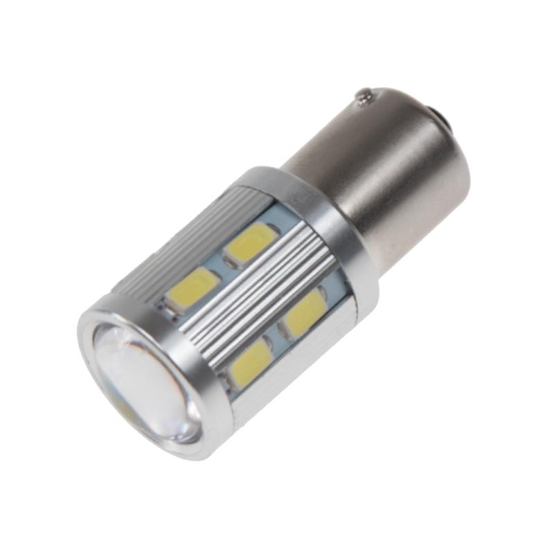 LED BAU15s bílá, 12-24V, 12SMD Samsung + 3W Osram