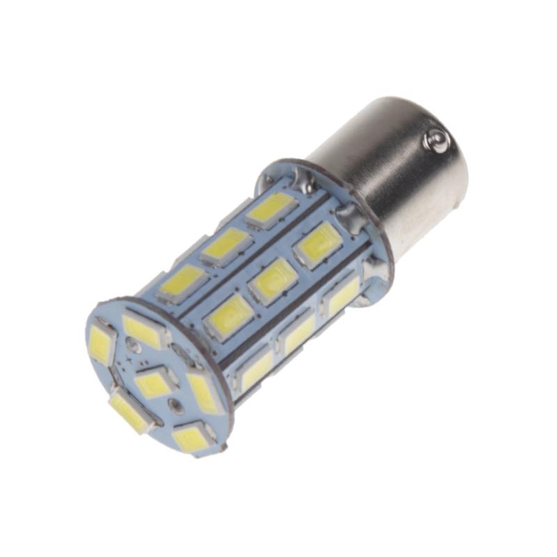 LED BAU15s bílá, 12V, 27LED/3SMD