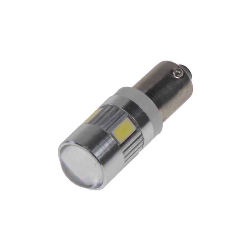 LED BA9s bílá, 12-24V, 6LED/5730SMD