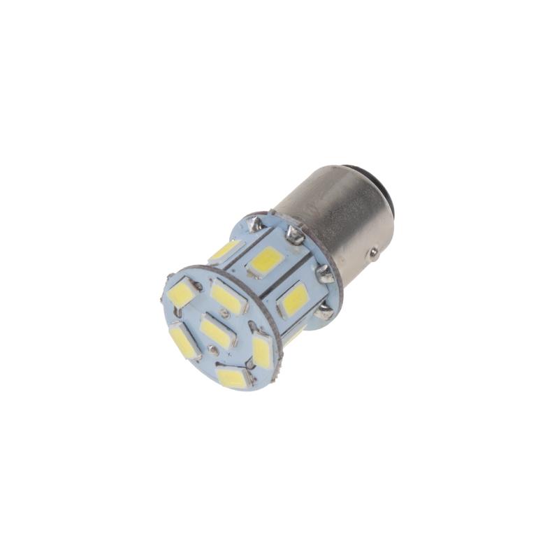 LED BAY15d (dvouvlákno) bílá, 12V, 13LED/5730SMD