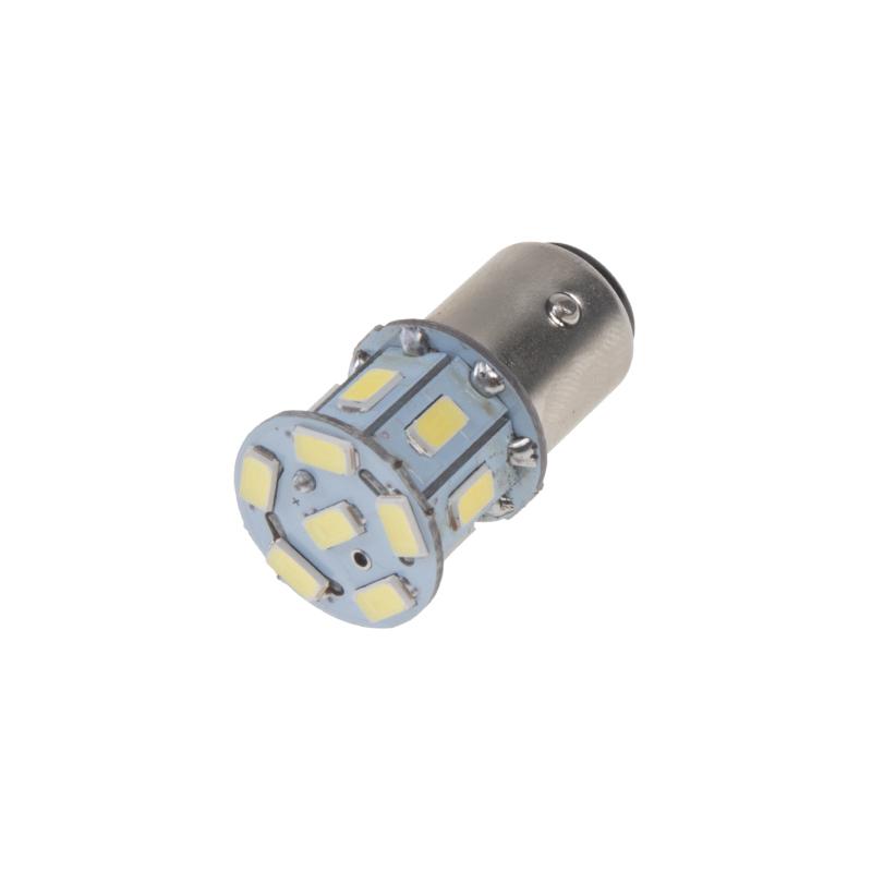 LED BAY15d (dvouvlákno) bílá, 24V, 13LED/5730SMD