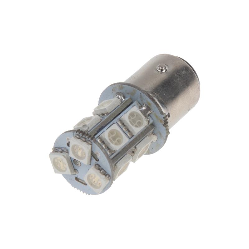 LED BAZ15d (dvouvlákno) červená, 12V, 13LED/3SMD